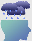 Depression. Having the blues and feeling depressed Royalty Free Stock Photography