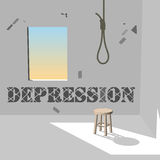 Depression. Suicide is a significant cause of death in developed countries Stock Photo