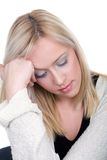 Depression. Young woman in depression or stressed is having a problem Stock Images
