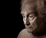 Depression. Emotional Image Of an Older man suffering depression Stock Photos