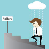 Depression bankruptcy unemployed sadness hopeless businessman Royalty Free Stock Photo