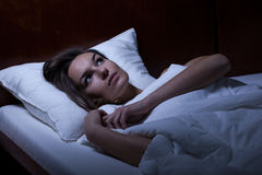 Depression in bed Stock Photos