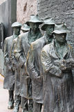 Depression Breadline FDR Memorial Washington DC. This bronze sculpture by George Segal depicts a scene from the Great Depression--waiting in a breadline--and is Royalty Free Stock Photos