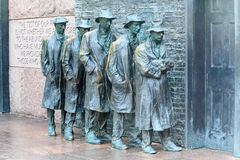 Depression Breadline FDR Memorial Washington DC Stock Images
