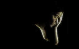 Depression concept – sad woman Royalty Free Stock Photography