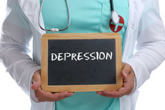 Depression depressed burnout ill illness healthy health young do Royalty Free Stock Image