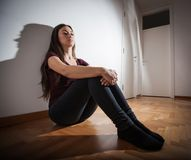 Depression Depressed teenager Royalty Free Stock Images