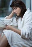 Depression after divorce Stock Photo
