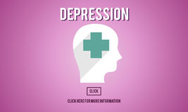 Depression Downturn Decline Recession Sadness Concept Stock Image