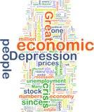 depression economic wordcloud Στοκ εικόνα με δικαίωμα ελεύθερης χρήσης