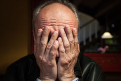 Depression. Elderly man Royalty Free Stock Photo