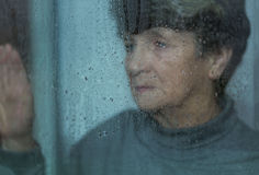 Depression of elderly women Royalty Free Stock Photo