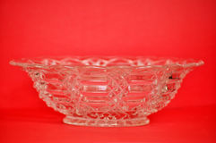 Depression Glass Bowl: Front Stock Photos