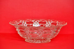 Depression Glass Bowl: Top Angle Stock Image