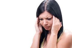 Depression or headache Stock Images