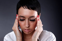 Depression and headache, illness Stock Images