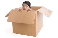 Depression inside box Royalty Free Stock Photos