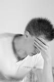 Depression. Male in depression sitting thinking Stock Photos