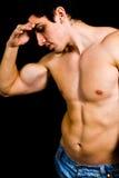 depression man muscular sad steroids tired Στοκ Εικόνα