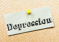 Depression Message Stock Photo