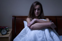 Depression in the middle of night Royalty Free Stock Images