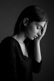 Depression – sad teen woman Stock Images