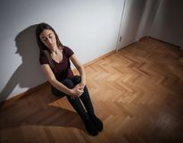 Depression Depressed teenager Royalty Free Stock Photo