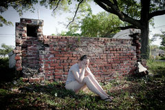 Depression: Woman Feeling Sad Royalty Free Stock Image