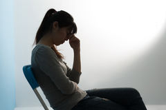 The depression woman Stock Images