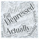 Depression word cloud concept word cloud concept vector background Royalty Free Stock Photography