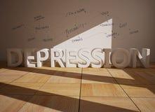 Depression Royalty Free Stock Photos