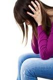 Depressione dell'adolescente - amore perso Fotografia Stock Libera da Diritti