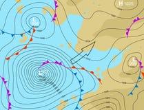 Depressione della tempesta illustrazione vettoriale