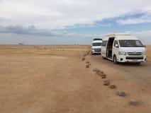 Depressione di viaggio il deserto fotografia stock libera da diritti