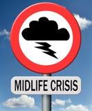 Depressione mentale di crisi di mezza età Immagine Stock Libera da Diritti