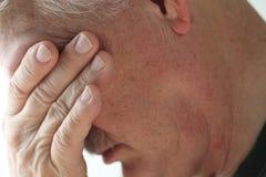 Depressione in uomo senior Fotografia Stock Libera da Diritti