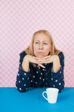 Depressive woman. In the morning Royalty Free Stock Photography