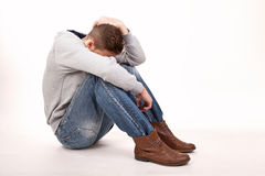 A depressive young man Stock Photo
