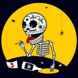 Depressão dos esqueletos Imagem de Stock