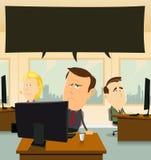 Depressão no escritório Imagens de Stock