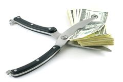 Deprezzamento del dollaro Fotografie Stock