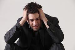 Deprima Fotografia Stock Libera da Diritti