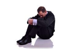 Deprimerad affärsman Arkivbild