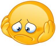 Deprimerad emoticon Royaltyfri Fotografi
