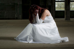 Deprimerad flicka Arkivbild