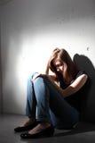 Deprimerad kvinna Arkivbilder