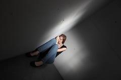 Deprimerad kvinna Royaltyfri Foto