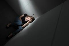 Deprimerad kvinna Royaltyfria Foton