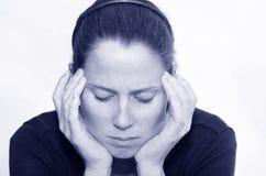 Deprimerad kvinna Arkivfoto