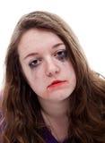 Deprimerande ung flicka Arkivfoto